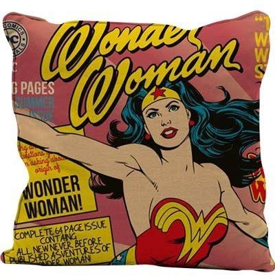 Almofada Aveludada Mulher Maravilha 45 x 45cm - DC Comics