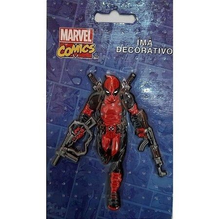 Imã Decorativo Relevo Marvel - Deadpool