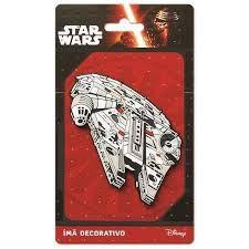 Imã Decorativo Relevo Star Wars - Nave Millennium Falcon