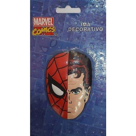Imã Decorativo Relevo Marvel - Homem Aranha Face