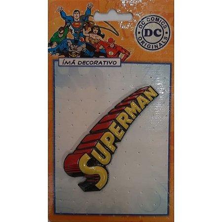 Imã Decorativo Relevo DC Comics - Super Homem Logo