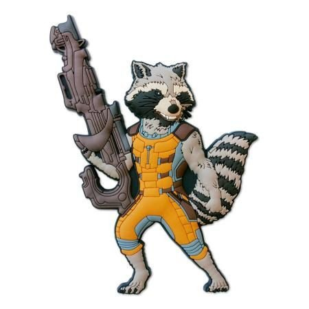 Imã Decorativo Relevo Marvel - Rocket Guardiões
