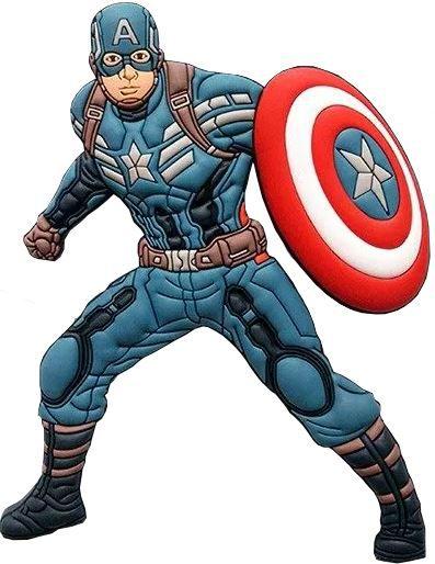 Imã Decorativo Relevo Marvel - Capitão America Avengers