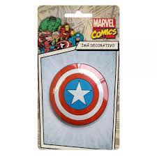 Imã Decorativo Relevo Marvel - Escudo Capitão America