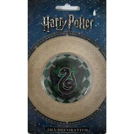 Imã Decorativo Bottom Harry Potter - Brasão Sonserina