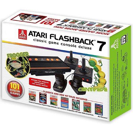 Atari Flashback 7 Deluxe 101 Jogos e 4 Joysticks Sem Fio