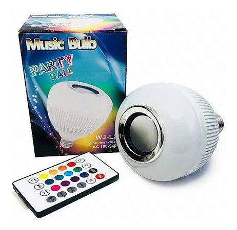 Lâmpada Led Bluetooth Party Controle Remoto - Som e Luz