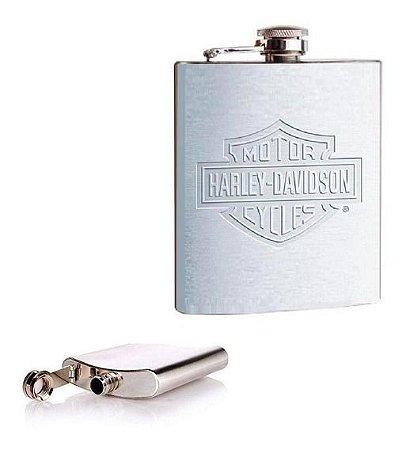 Cantil Metal Prata 210ml Harley Davidson