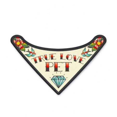 Bandana Pet True Love - Tamanho : M