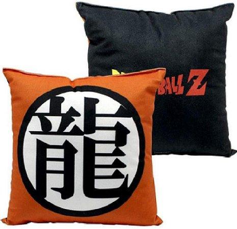 Almofada Aveludada 25cm Dragon Ball - Símbolo Goku