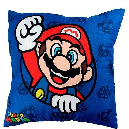 Almofada Microfibra 40cm Mario e Luigi -  Super Mario
