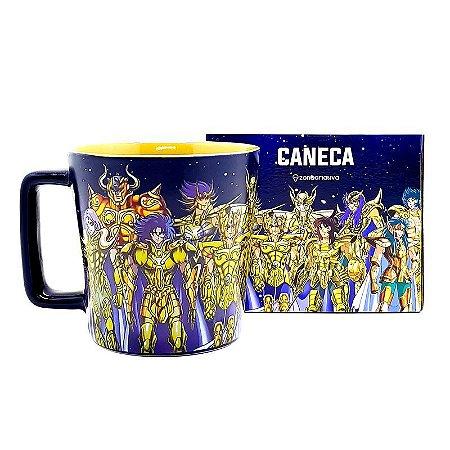 Caneca 400ml Buck Cavaleiros de Ouro - Cavaleiros do Zodíaco