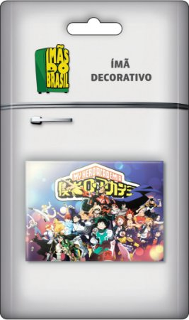 Imã Decorativo Foto Animes - My Hero Academia Turma