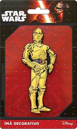 Imã Decorativo Relevo Star Wars - C3PO