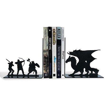 Porta livros / Aparador para Livros em Acrílico Dragão Medieval