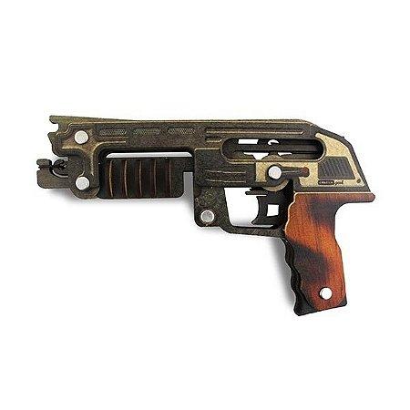 Pistola de Elástico Em Madeira Mdf
