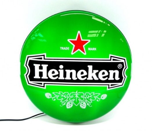 Luminoso de Parede Heineken Logo 40cm