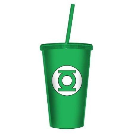Copo Canudo Lanterna Verde Logo - DC Comics