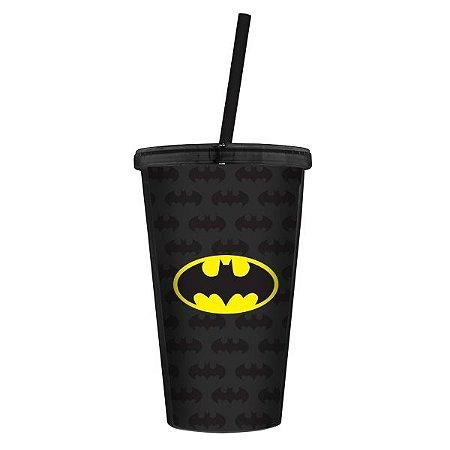Copo Canudo Batman Logo - DC Comics