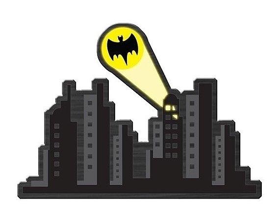 Quadro de Madeira Recortada Gotham City