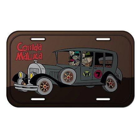 Placa Metal Decorativa Corrida Maluca - Hanna Barbera