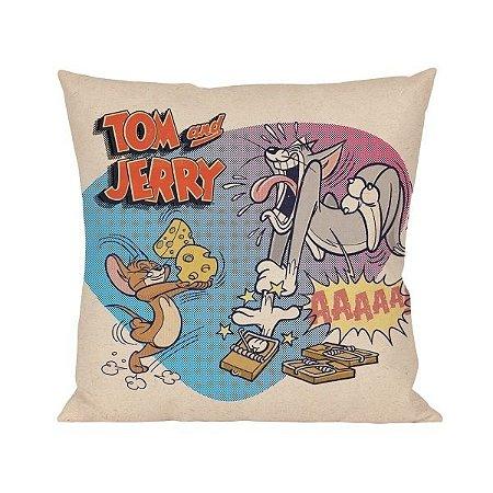 Almofada Aveludada Tom e Jerry - Ratoeira