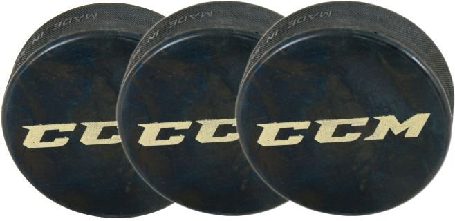 PUCK PARA HOCKEY NO GELO CCM - PACK 3 UNIDADES