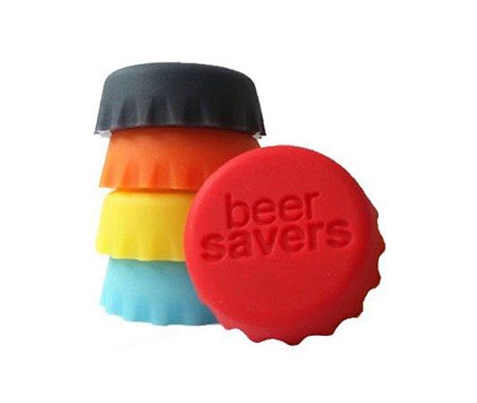Beer Savers - Tampinhas de Silicone para Bebidas (6 unidades)