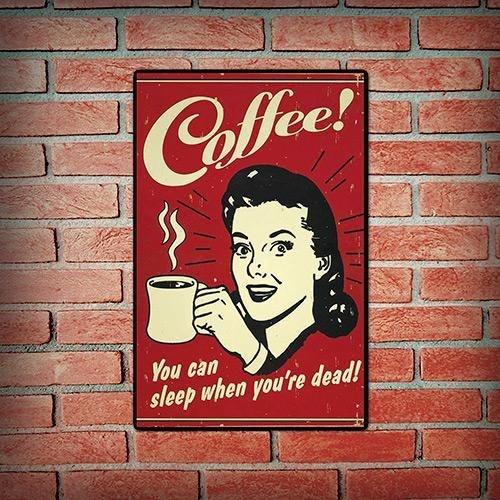 Quadro Vintage Retrô Coffee