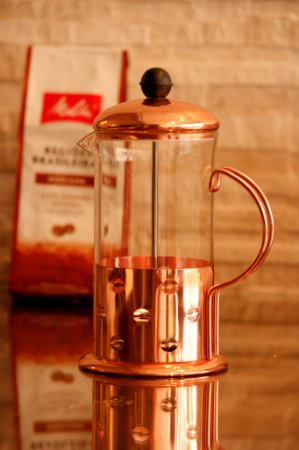 Cafeteira Prensa Gold Rose