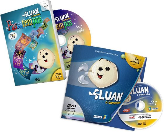COMBO com DVD do 1º episódio com Livro impresso + DVD Passatempos do Luan