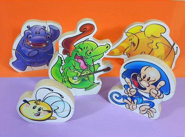 Quebra-Cabeça do Jacarelvis e Amigos (Kit com 5 personagens)