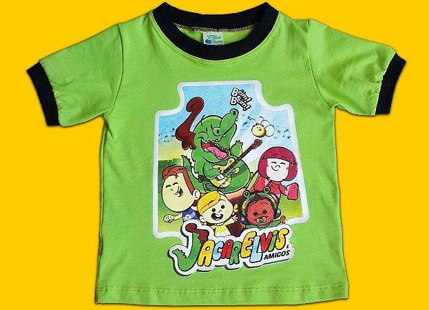 Camiseta do Jacarelvis e Amigos (Infantil e Adulto)