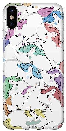 Capinha para iPhone XR - Unicórnios coloridos
