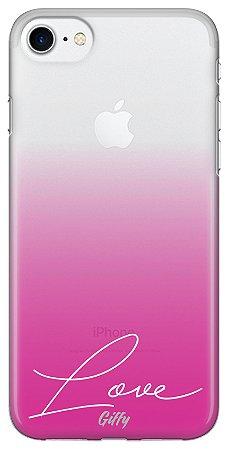 Capinha para iPhone 7 Plus - Pink Love