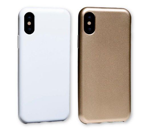 Capinha para iPhone X / XS - Glow Gold / White - Kit com 2 unidades