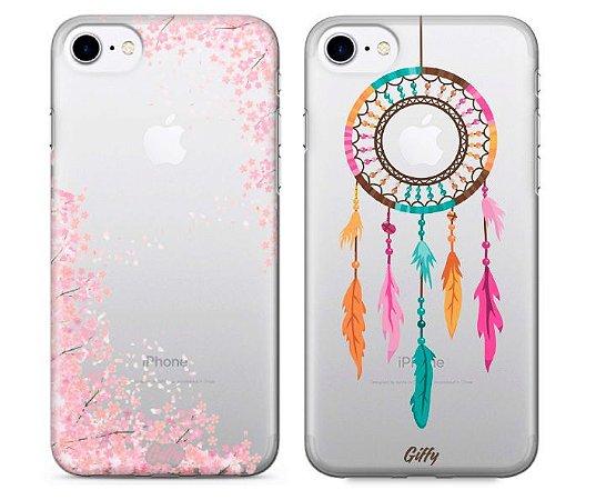 Capinhas para iPhone 8 Plus - Cherry / Dream Colors - Kit com 2 und