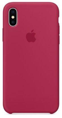 Capinha Feminina para iPhone XS MAX - Silicone Case Vermelho Rosa