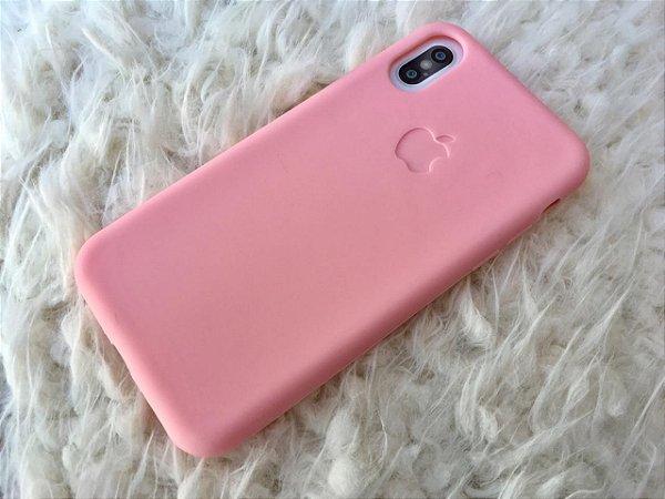 Capa para iPhone X - Silicone Flexível Rosa