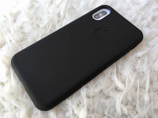Capa para iPhone X - Silicone Flexível Preta