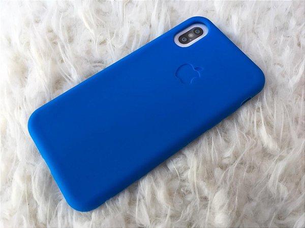 Capa para iPhone X - Silicone Flexível Azul