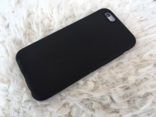 Capinha para iPhone 6s - Masculina - Silicone Flexível Preta