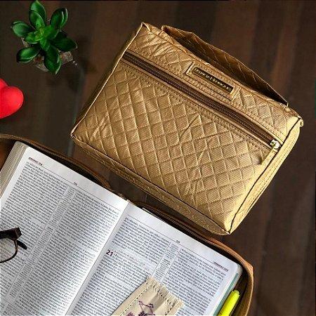 Bolsa para Biblia Dourada Metalasse