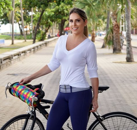 Bolsa para bicicleta estampa xadrez Fluor