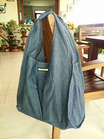Bolsa jeans azul Oca
