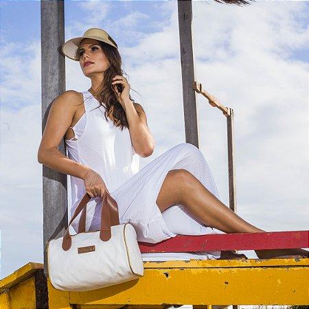Bolsa de praia Branca de tela Basset