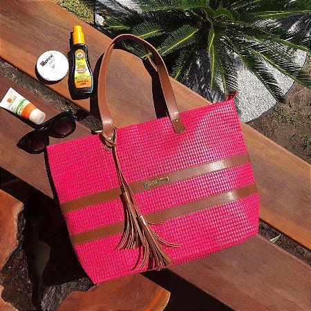Bolsa de Praia Pink de Tela Barca
