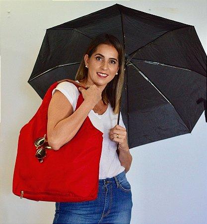 Bolsa de tecido vermelho nylon chuva