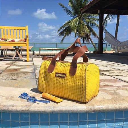 Bolsa de Praia de Tela Amarela Basset