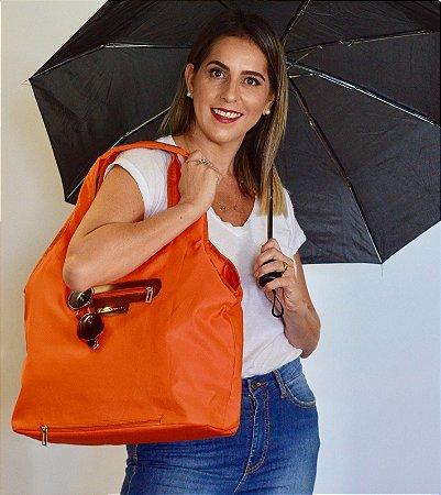 Bolsa de tecido laranja nylon chuva